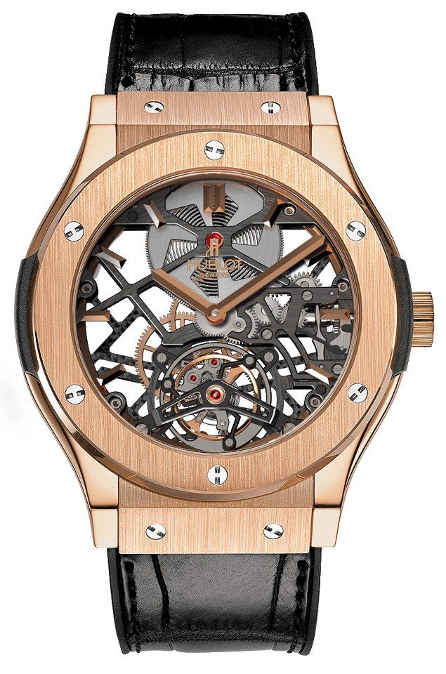 Hublot Skeleton Gold