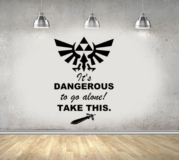 Legend Of Zelda Gaming Quote Vinyl Wall Art Stickers For Kids Room Boy Bedroom Home Decor Removable Vinyl Wall Decals Mural A219