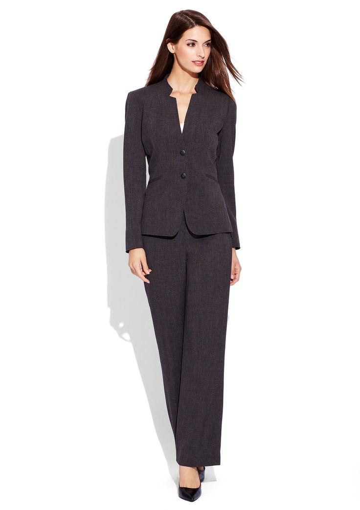 TAHARI ARTHUR S. LEVINE 2-Button Plaid Pant Suit | Day ...