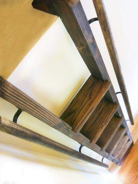 Loft Ladder Custom Detachable And Fixed Ladders Etsy Loft Ladder Quality Living Room Furniture Ladder