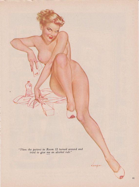 93 Rare 50's Vintage Vargas Pin Up Girl by TheEnchantedAttic