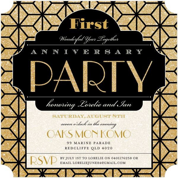 First Wedding Anniversary Celebration Ideas: 1000+ Images About Invitations On Pinterest