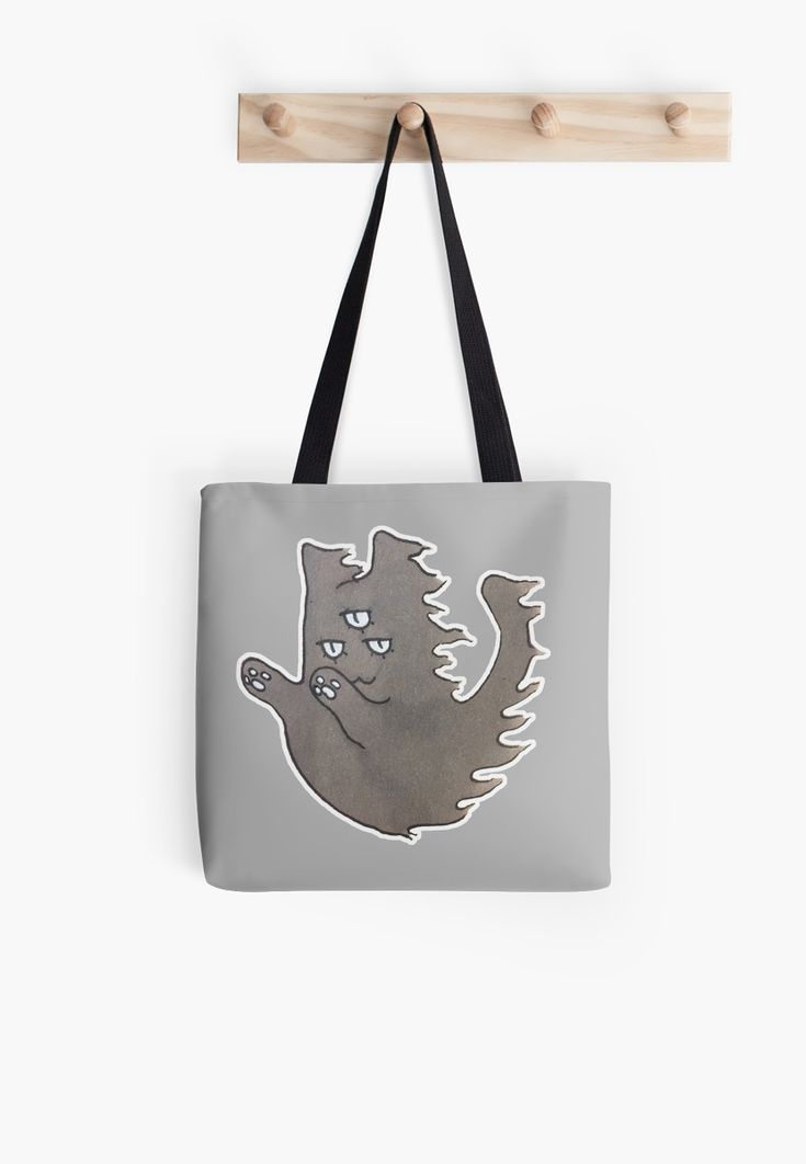 """""""Ghost Cat"""" Tote Bags by ThreeEyedKat 
