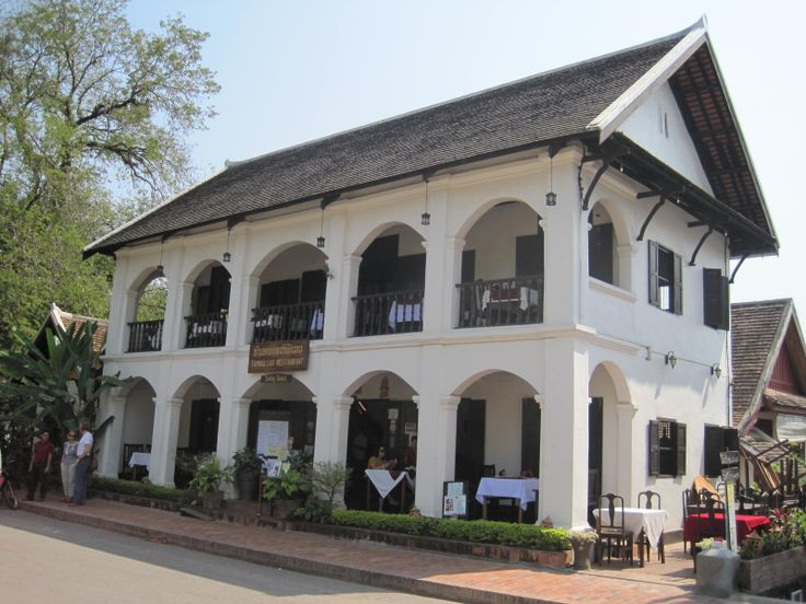 French colonial architecture luang prabang laos for French colonial house plans