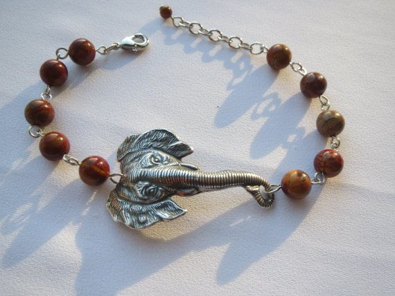 Elephant and Picasso Jasper Bracelet  Collector's Piece by Thielen, $23.95