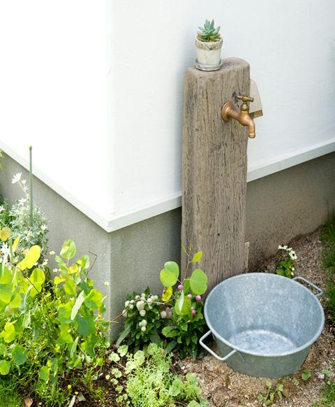 大活躍☆快適&便利(ガーデンシンク・立水栓) | 素敵なお庭.net|素敵なお庭づくりに役立つ情報をお届けします