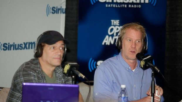 "Anthony Cumia and Gregg ""Opie"" Hughes attend SiriusXM's ""Opie & Anthony"" broadcast live from the Montreal Just for Laughs Comedy Festival at The Hyatt Regency Montreal on July 25, 2013 in Montreal, Canada.  (Photo by Pierre Rousseau/Wire Image/Getty Images)"