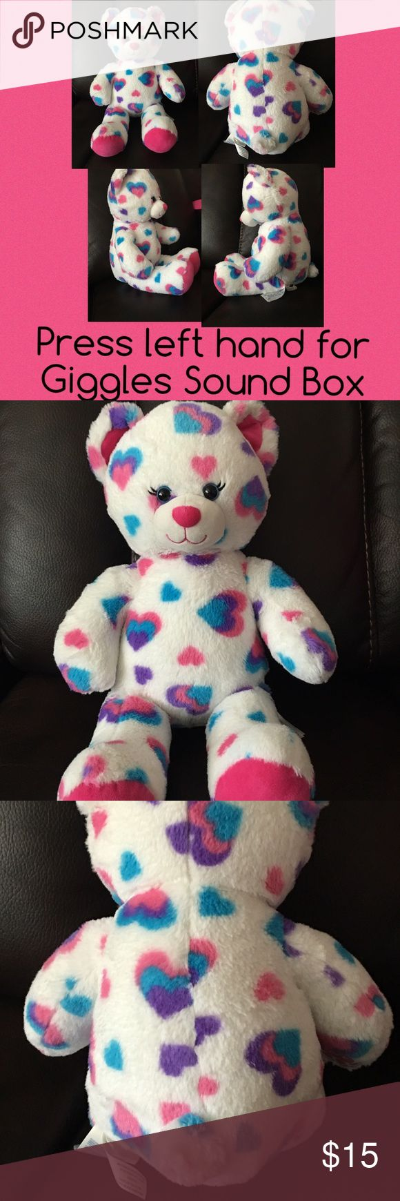 Build A Bear Excellent, clean condition. Sound box giggles when you press bears left hand. Herat has been inserted when originally stuffed. Make offer! Discount on bundles Other