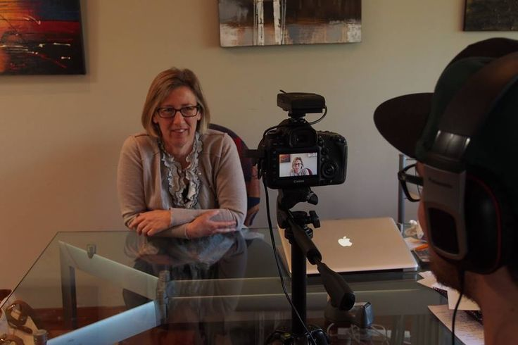 Susan Parker, Producer of Loving in Limbo gets in front of the camera.