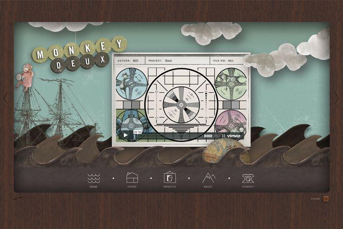 Strange but fun website. Collage/animation/illustration/ Ludlow Kingsley | Work | Monkey Deux