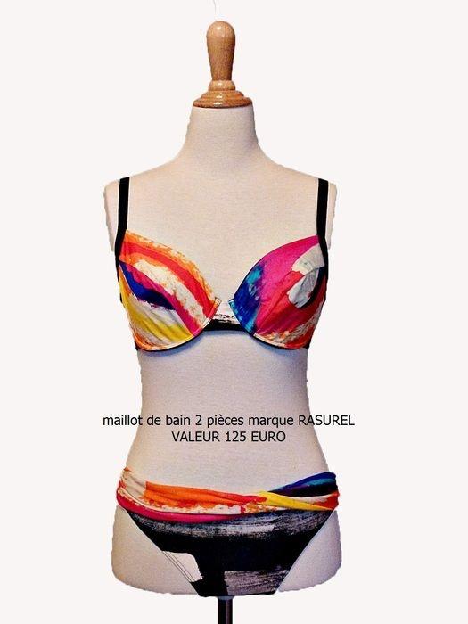 Neuf et authentique beau maillot de bain 2 pièces multicolore marque Rasurel Rasurel ! Taille Autre  à seulement 55.00 €. Par ici : http://www.vinted.fr/mode-femmes/bikinis/23655858-neuf-et-authentique-beau-maillot-de-bain-2-pieces-multicolore-marque-rasurel.