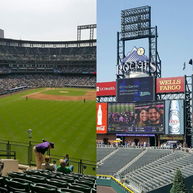 Rockies game today.  Coors Field.