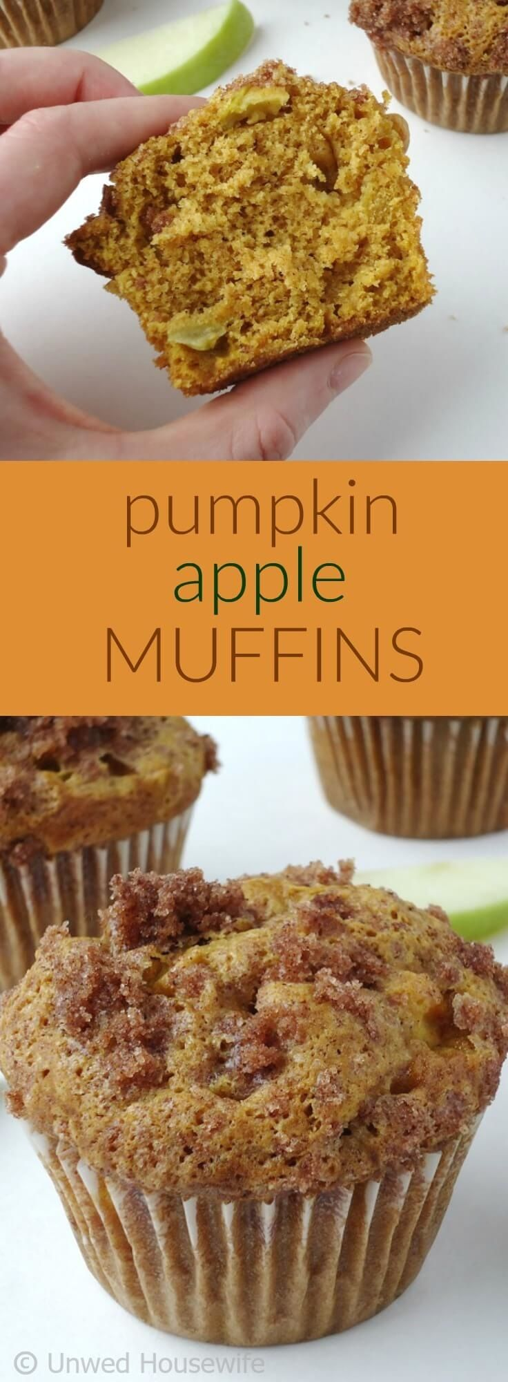 Pumpkin Apple Muffins | Unwed Housewife | These pumpkin apple muffins are the…