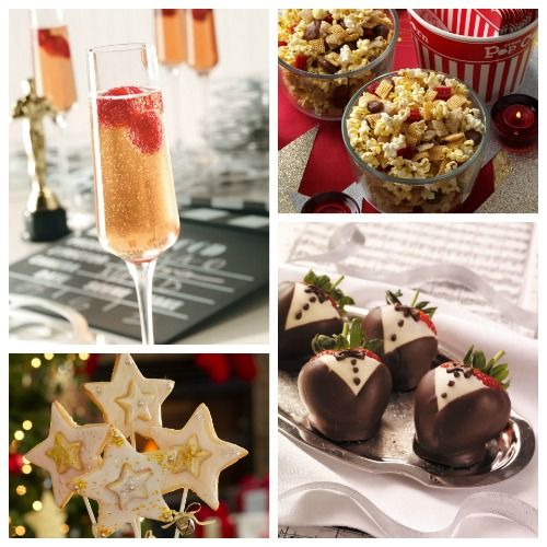 Feed your guests at your Oscar viewing party with the best champagne cocktails, appetizers, and cupcake recipes. Your Oscars party menu planning awaits.