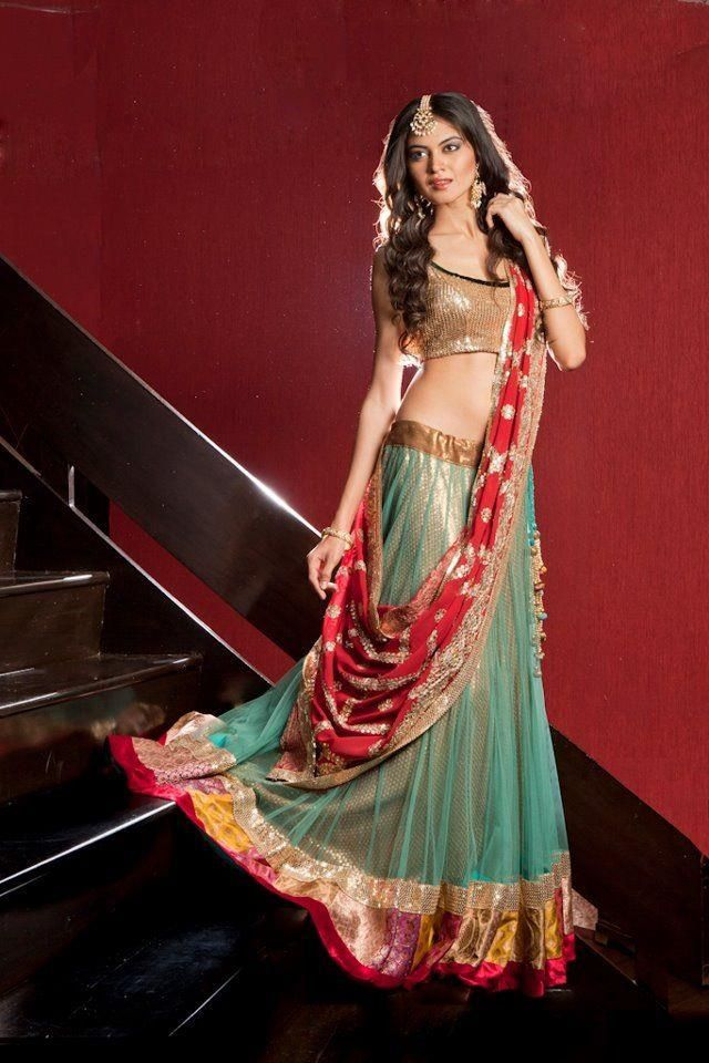 Vibrant, Beautiful #Desi #Lehenga / Ghagra Choli Ensemble ~