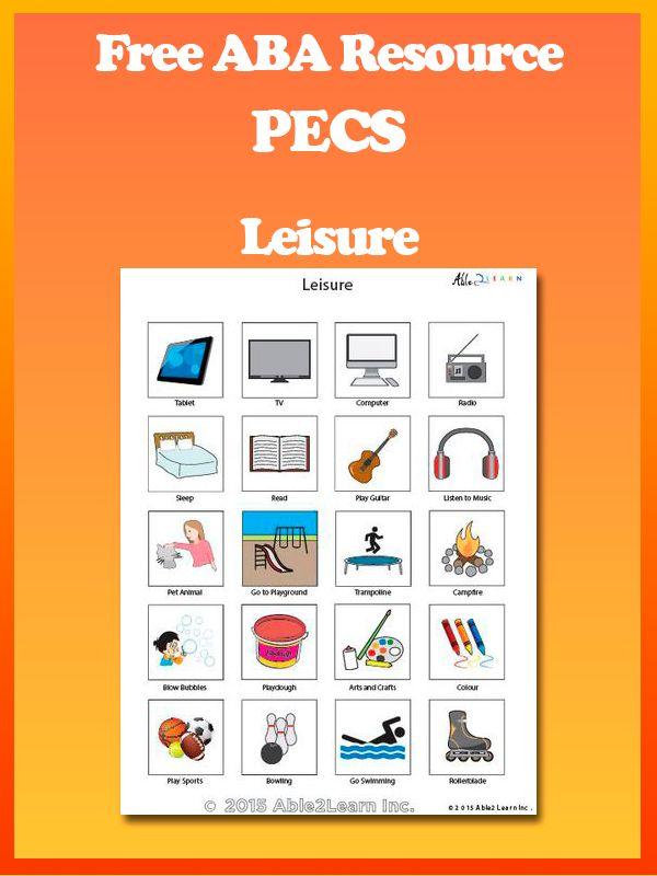 Free Leisure Activity PECS : PICTURE EXCHANGE SYSTEM. Pec's allow children who…
