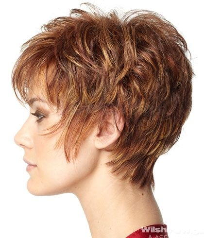 Love this short hair style and the color! by Eva