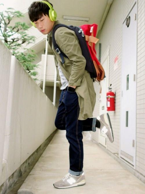 ハルじおん|URBAN RESEARCH DOORS MENSのステンカラーコートを使ったコーディネートWEAR #sony #headphones