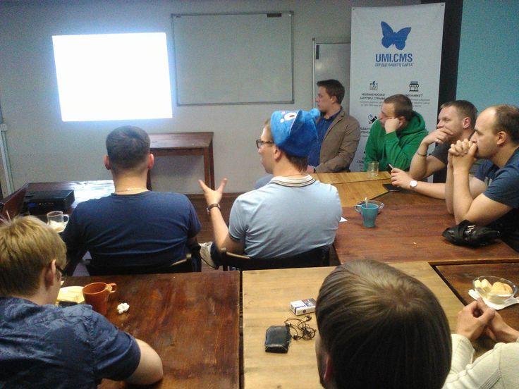 """А25 на встрече разработчиков на UMI.CMS в анти-кафе """"12 комнат"""""""