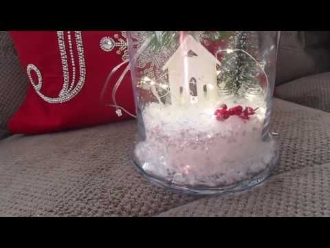 (23) Day #5 Dollar Tree Apothecary Bowl, Jars Holiday Scene 🌲| 12 Days Of Christmas crafts - YouTube
