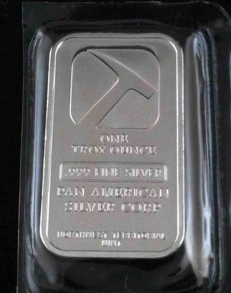 1 Troy Ounce of New SEALED 9995 Fine Silver Bullion Bars Pan American Silver