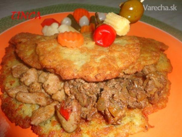 Pochúťka v zemiakovej placke (fotorecept)