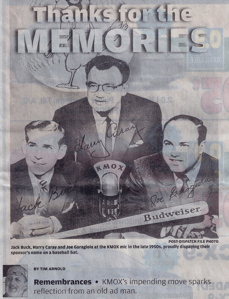 KMOX - Jack Buck, Harry Caray, Joe Garagiola.  Cardinals have had some of the game's best in the booth.