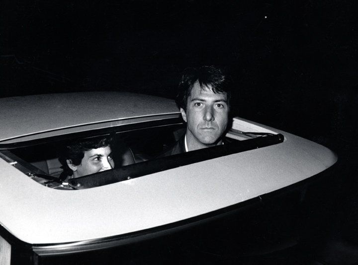 Ron Galella, Dustin Hoffman outside Chasen's Restaurant, Beverly Hills, 1979