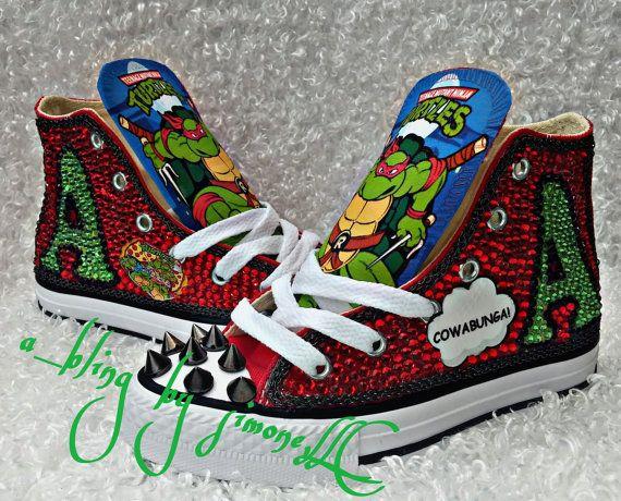 Custom Ninja turtle converse and matching t by ABlingbySimonellc