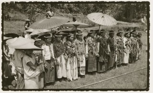 Indonesia ~ Toraja  Mapasa Ceremony ~ 1937 The Toraja are an ethnic group indigenous to a mountainous region of South Sulawesi, Indonesia.