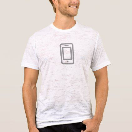 Simple Phone Icon Shirt - minimal gifts style template diy unique personalize design