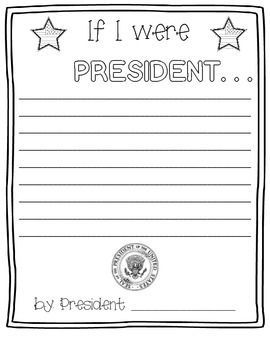 If I Were President writing prompt.  Great for celebrating President's Day!