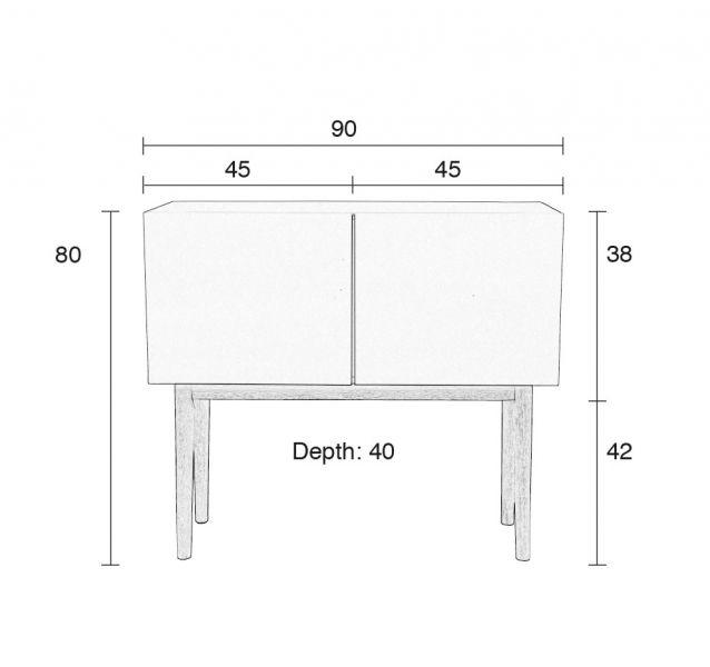 ZUIVER: Commode design High wood tendance nordique en bois laqué blanc