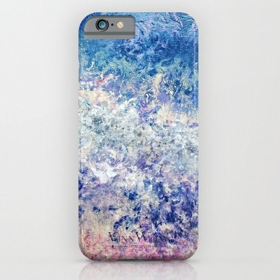 Cute and sophisticated glistering blue and pink abstract phone case design for iPhone 6, iPhone 5S/C, iPod Touch, Galaxy s6/s5/s4 | International Shipping | Full collection www.vinnwong.com | Click to Shop or Pin it For Later!