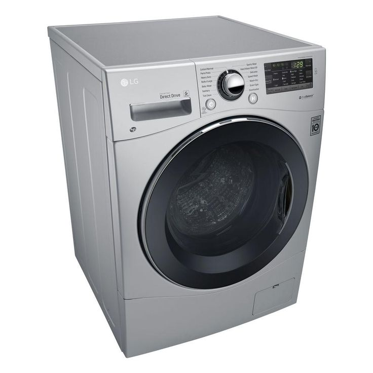 LG Electronics 2.3 cu. ft. All-in-One Front Load Washer and Electric Ventless Dryer in Silver