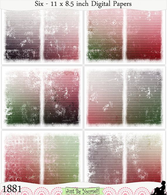 Instant Download Grungy Red and Green Watermelon by JustBYourself, $3.00 (1881)