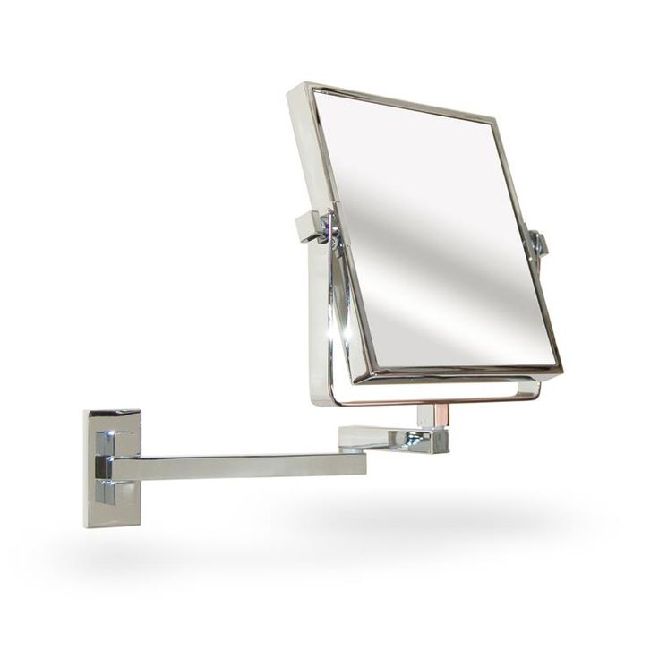 A Contemporary Chrome Bathroom Mirror Wall Mounted And Extendable To True Image 3 X Magnification