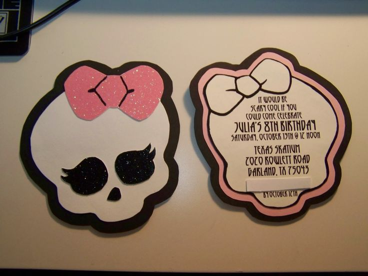 little root creations: handmade monster high invitations