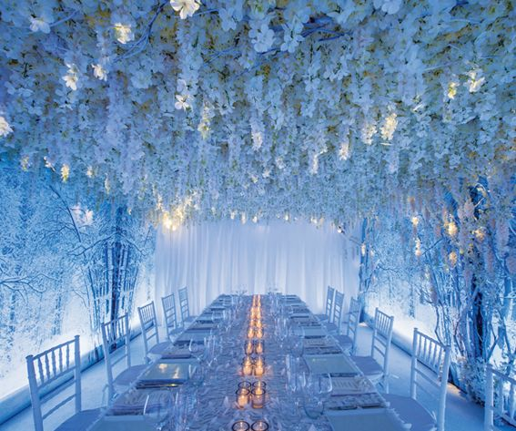 5 Wedding Flower Design Ideas from Celebrity Designer Preston Bailey - Go Monotone from #InStyle