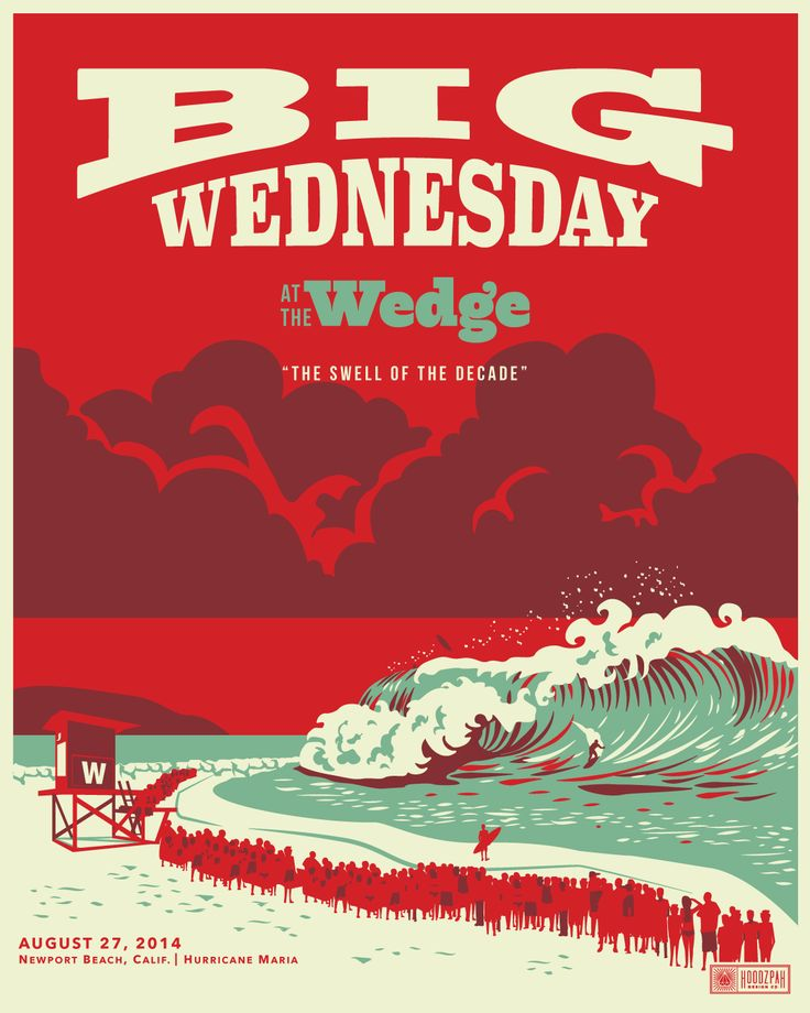 Big Wednesday - Newport Beach The Wedge. Poster Illustration. Surfing - byAmy Hood