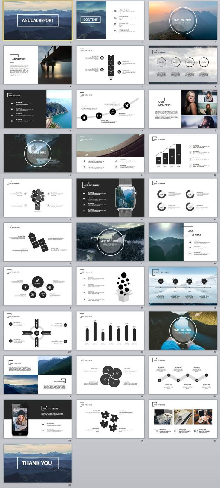 31+ creative annual swot report PowerPoint template #powerpoint #templates #presentation #animation #backgrounds #pptwork.com #annual #report #business #company #design #creative #slide #infographic #chart #themes #ppt #pptx