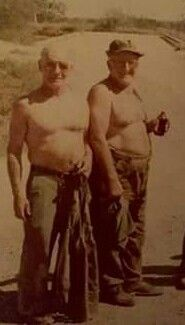 """Outfit boss Joey Aiuppa (left) w/ Uncle """"Pepsi Cola"""" Jimmy. (Right)"""