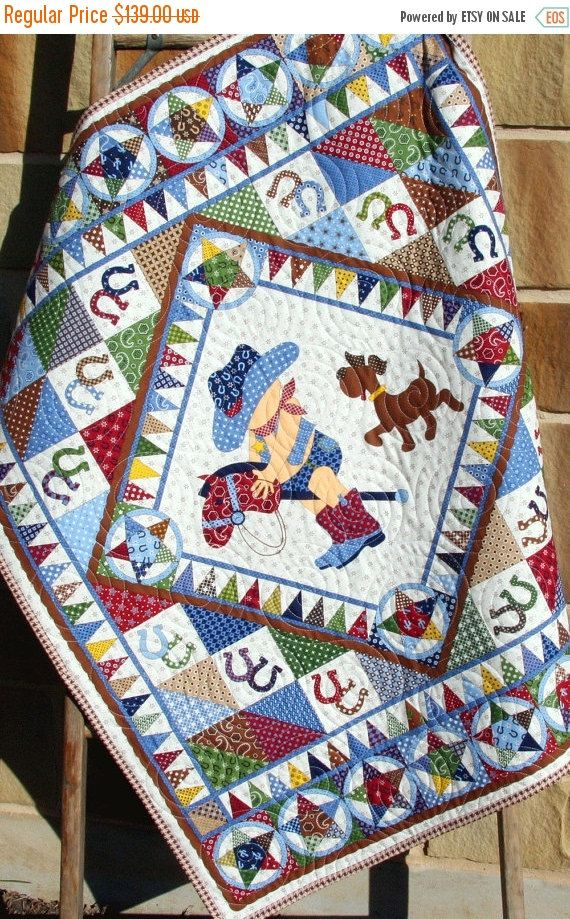 Hey, I found this really awesome Etsy listing at https://www.etsy.com/listing/246076093/cowboy-quilt-western-bandana-boy-blanket