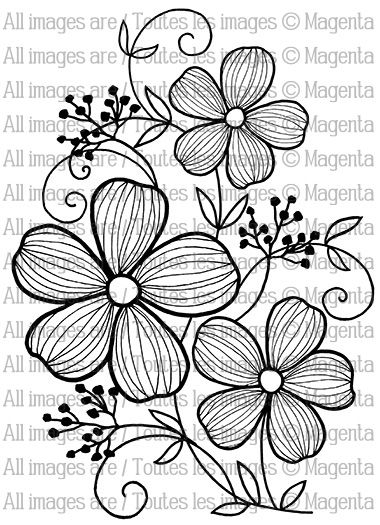 Flower Trio Embroidery Pattern. jwt