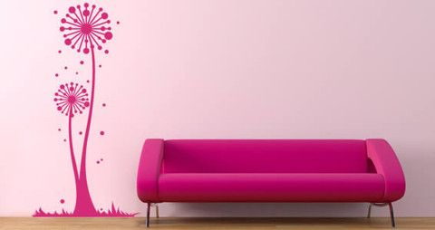 Flower wall decal is a vinyl decorative graphic for interiors Floral winkles is an artistic and modern design perfect to give a hip touch to your ambiance.  Visit this link for more designs: https://limelight-vinyl.myshopify.com/