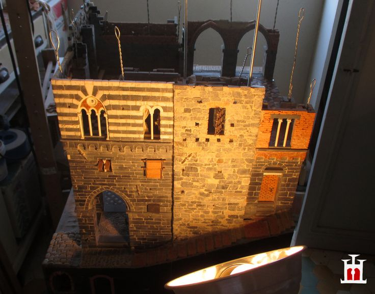 Construction progress... (The Domus project is the construction in scale 1:50 of an imaginary medieval palace. It's made of clay, stones, slate, wood and other construction materials in the style of rich genoese buildings from the middle of XIV century)