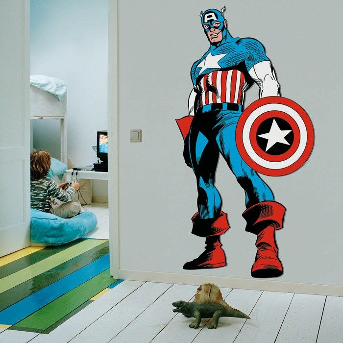 36 best images about kids marvel on pinterest kid decor Captain america wall decor