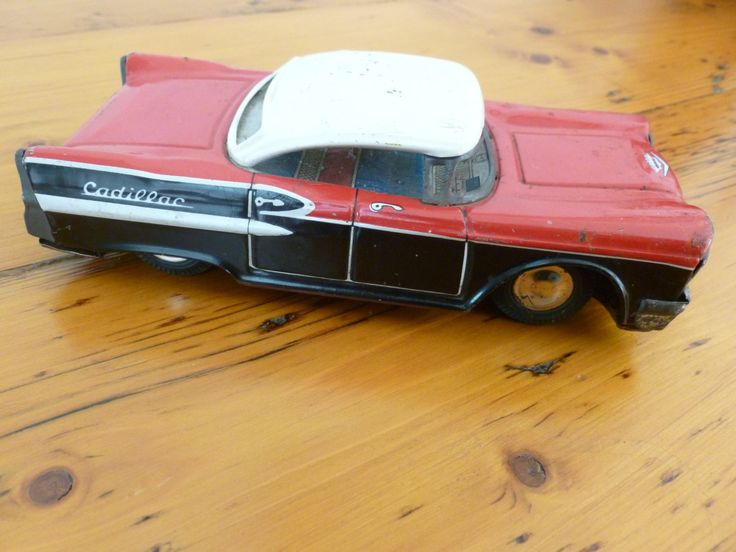 Vintage Tin Friction 1950s Cadillac As Found,  Made in Japan, Vintage Toy Car, Cadillac Collectible, Needs Restoring by MuskRoseVintage on Etsy