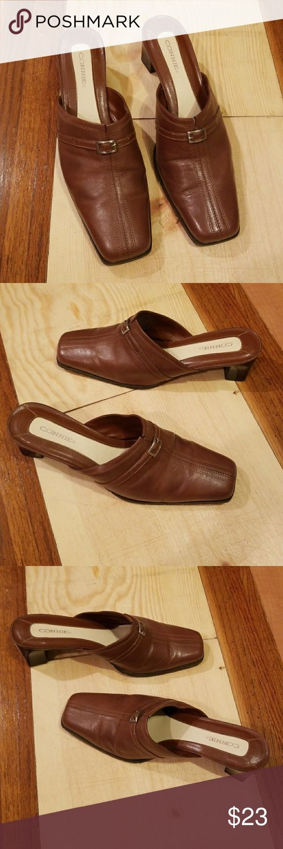 Connie slip on Mule Clogs Slides Really nice condition lightly worn soles have light wear. Connie Shoes Mules & Clogs