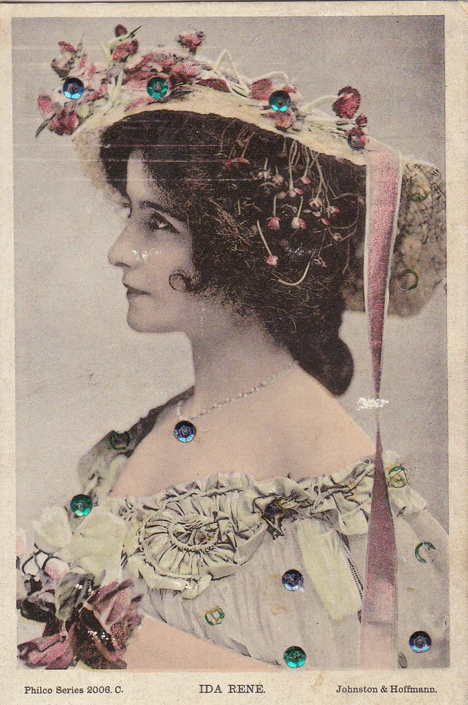 Vintage Postcard ~ACTRESSES~IDA RENE~SEQUINED~ Philco